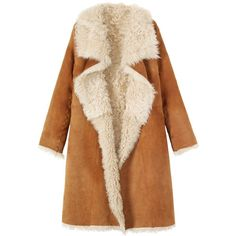 Toast Long Shearling Wrap Coat found on Polyvore