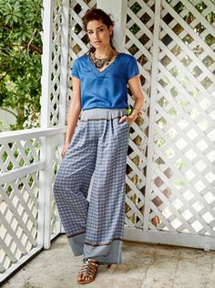 Read the article 'Sew Your Summer Pants' in the BurdaStyle blog 'Daily Thread'.
