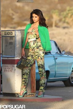 Selena Gomez modeled at a gas station during a sexy shoot. More pics here!