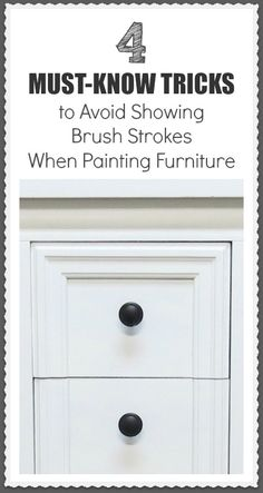 7 Tricks to Avoid Brush Strokes I always strive for a smooth finish when working on a piece of furniture, at least on the base paint, before distressing or aging it. In my opinion, brush strokes … Old Furniture, Repurposed Furniture, Furniture Projects, Furniture Making, Furniture Makeover, Furniture Stores, Furniture Movers, Rustic Furniture, Garden Furniture