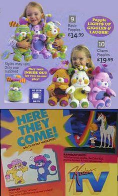 Vintage Popples..... Oh my gosh!!! I had 2 of these. I think I still do somewhere!
