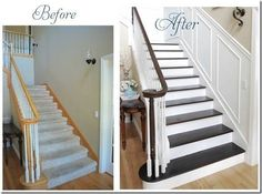 simple way to dress-up a staircase