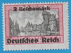 + 1939 Danzig Free City State Arms Crest Reich Surcharge #254 A20[c]2rm on 2g MH