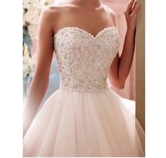 Image via We Heart It https://weheartit.com/entry/167980564/via/30487519 #dress #longdress #palepink #princess #Swarovski #tan #rinestones #palepinkdress #layerdress