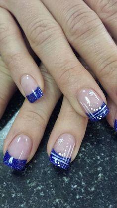 NagelDesign Elegant ( Love this design – – ) – NagelDesign Elegant ♥ Nail Tip Designs, French Nail Designs, Acrylic Nail Designs, Acrylic Nails, Nails Design, Gel Nail Art, Nail Manicure, Hair And Nails, My Nails