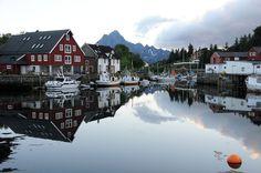Kabelvag village, Lofoten,NO