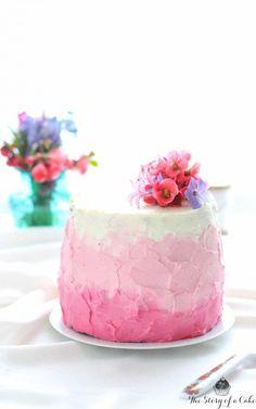 Ombre torta s mascarpone krémom a jahodami