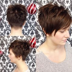 Cutest client EVER, I just love a great pixie cut #undercut…