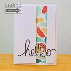 The Alley Way Stamps: Hello Cool Cards, Diy Cards, Card Making Inspiration, Making Ideas, Acetate Cards, Feather Cards, Karten Diy, Homemade Cards, Homemade Gifts