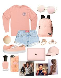 """Beach with Cam"" by magcult-member on Polyvore featuring Vans, Tony Moly, Deborah Lippmann and Casetify"