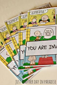 charlie brown birthday party | ... Day in Paradise: A Pinteresting Wednesday: Charlie Brown Party Invites