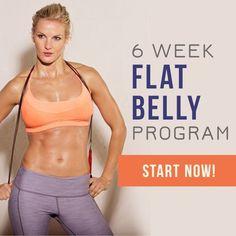 6 Week Flat Belly Program - get your flat tummy! #flatbellyworkouts #fitnessprogram #weightloss