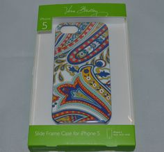 $38 Vera Bradley iPhone 5 Slide Frame Hard Plastic Case Marina Paisley #VeraBradley