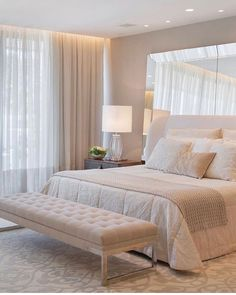 Modern Luxury Bedroom, Luxury Bedroom Design, Room Design Bedroom, Room Ideas Bedroom, Home Room Design, Luxurious Bedrooms, Home Decor Bedroom, Interior Design, Spa Like Bedroom