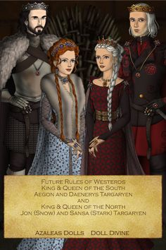 GoT Makers - ASOIAF: Future Rules of Westeros - Aegon & Daenerys Targaryen and Jon (Snow) & Sansa (Stark) Targaryen I wouldn't mind this!