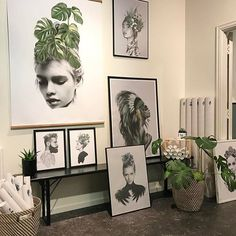 All ready and set for tomorrows pop-up at together with and Øvrefoss Oslo, saturday and sunday☺ Style Tropical, Black And White Prints, Black White, Deco Boheme, Jolie Photo, Illustrations, Green Fashion, Oslo, Pop Up