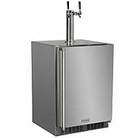 All Stainless Outdoor Kegerator Cabinet with X-CLUSIVE 2 Faucet D System Tapping Kit