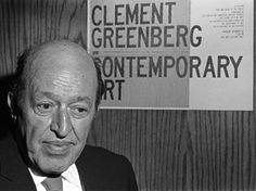 Clement Greenberg (1909-1994), art critic and essayist. Promotor of abstract expressionism. Highly critisized by post-modernism.