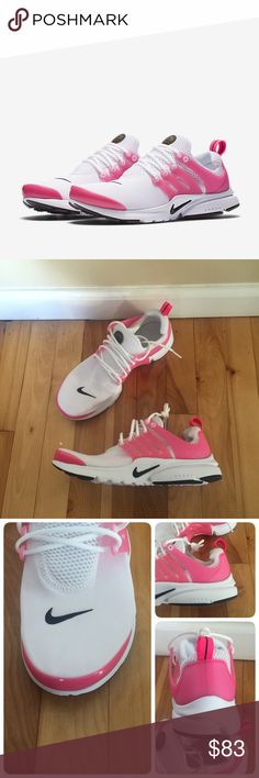 New NIKE Presto GS ~ wht/blk/pk ~ 7Y/9W brand new no lid size 7Y (fits women's 8.5-9) white/black/hyper pink comes from smoke free home Nike Shoes Sneakers