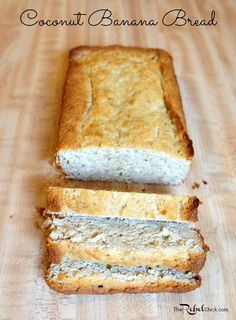 A healthy coconut banana bread recipe, this is a great breakfast bread recipe for busy weekday mornings!