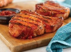 Grilled Ribeye (Rib) Pork Chops With Easy Spicy BBQ Sauce. Photo by National Pork Board