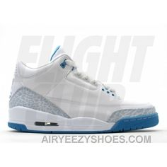 best sneakers fbc6c a0aeb WS Air Jordan Retro 3 White Harbor Blue Boarder Blue 315296-142 Cheap To  Buy TP6GS, Price   75.83 - Air Yeezy Shoes