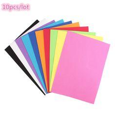 10pcs/lot Foam Paper Art 10 colors A4 Fold scrapbooking Thick Multicolor Sponge Foam Paper Craft DIY Child Puzzle Paper New Year