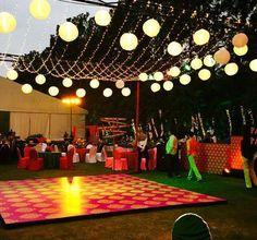 New Ideas Party Ideas Wedding Dance Floors Desi Wedding Decor, Wedding Hall Decorations, Wedding Reception Backdrop, Marriage Decoration, Wedding Mandap, Wedding Venues, Indian Reception, Wedding Backdrops, Backdrop Decorations