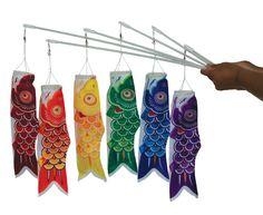 Amazon.com: In the Breeze 6-Pack Koi Fish Wand, 12-Inch, Red/Orange/Yellow/Green/Blue/Purple: Patio, Lawn & Garden