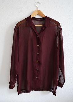 Kup mój przedmiot na #vintedpl http://www.vinted.pl/damska-odziez/koszule/10409813-bordowa-koszula-mgielka