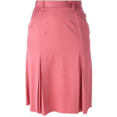 Golden Goose Deluxe Brand 'Ajla' skirt ($215) ❤ liked on Polyvore featuring skirts, pink, high waisted pleated skirt, pink pleated skirt, high-waist skirt, pleated skirt and knee length skirts