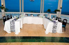 Intimate Wedding Dinner: U-Shaped Dinner Party Table