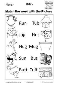 Kindergarten - Global Kids Indian School Nursery Worksheets, English Worksheets For Kindergarten, Letter Tracing Worksheets, Printable Preschool Worksheets, English Worksheets For Kids, English Lessons For Kids, Kindergarten Math Worksheets, Kindergarten Reading, English Activities
