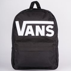 Backpack Vans Old Skool II Ba Fashion Black / White - Outfit Fashion Vans Old Skool Backpack, Vans Rucksack, Men's Backpack, Black Backpack, Adidas Backpack, Cute Backpacks For School, Little Backpacks, Cool Backpacks, Mochila Adidas