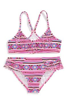 Billabong 'Heat Wave' Fringe Two-Piece Swimsuit (Big Girls) available at #Nordstrom