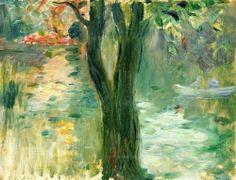 urgetocreate:  Berthe Morisot, Sunset over the Lake, Bois de Boulogne, 1894