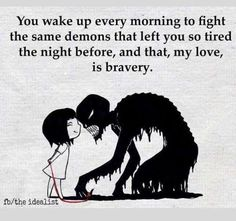 True bravery for the person in recovery. Repinned from @seasonedginger www.seasonedginger.com