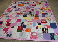 Baby Clothes Quilt - this one is SO CUTE! Love this idea. jellybeanquilts.com