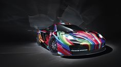 mclaren colorful art Background