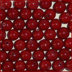 25 8mm Round Red Mountain Jade Loose Gemstone Beads Dark