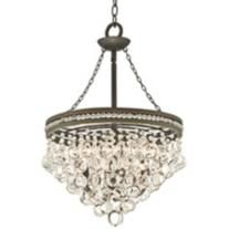 "Regina Bronze 18 1/2"" Wide Crystal Chandelier"