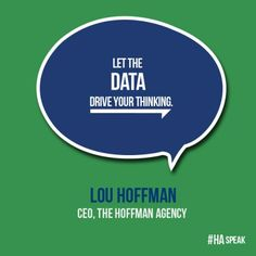 Cut the fluff, use data to tell your #story. #HASpeak