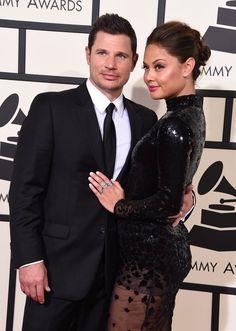 Pin for Later: Les Couples de Célébrités S'affichent Sur le Tapis Rouge des Grammy Awards Nick Lachey et Vanessa Lachey