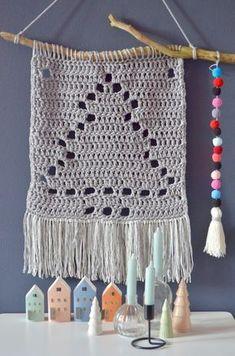 Christmas Wall Hangings, Crochet Christmas Decorations, Crochet Christmas Trees, Christmas Crochet Patterns, Noel Christmas, Christmas Knitting, Modern Crochet, Crochet Home, Love Crochet