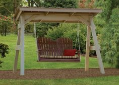 Vinyl A-Frame with Roof with Comfo-Back Double Swing