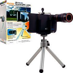 Trademark Commerce 72-14512 Telescopic 8X Lens & Tripod Kit for iPhone 3 & 4