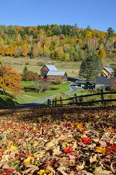 Vermont Farm In Autumn by Donna Doherty Fall Pictures, Fall Photos, Nature Pictures, Autumn Photography, Landscape Photography, Le Vermont, Foto Gif, Autumn Scenes, Autumn Aesthetic