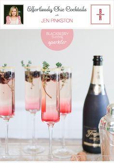 Blackberry thyme sparkler. Signature cocktail?