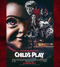 Child's Play 2019 Sf Movies, Scary Movies, Horror Movie Posters, Horror Movies, Little Shop Of Horrors, Danse Macabre, Internet Movies, Chucky, Kids Playing