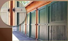 Country style green barn door hardware #barndoor #hardware #specialty #custom explore specialtydoors.co